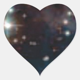 Sticker Cœur galaxie de manière laiteuse