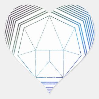 Sticker Cœur Galaxie de polygone