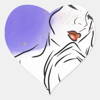 Sticker Cœur Galaxie toxique