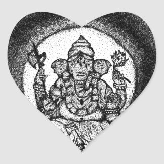 Sticker Cœur ganesh