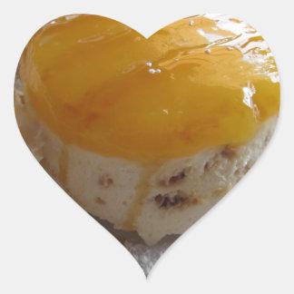 Sticker Cœur Gâteau couvert par confiture de crème glacée