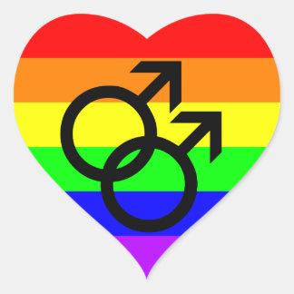 Sticker Cœur Gay pride
