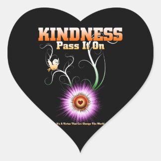 Sticker Cœur GENTILLESSE - passez-la sur le coeur de Starburst