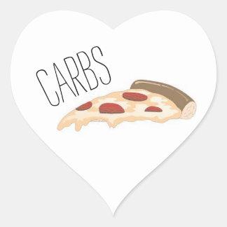 Sticker Cœur Glucides avec l'autocollant de coeur de conception