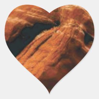 Sticker Cœur gonflement de la roche rouge
