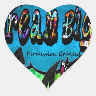 Sticker Cœur Grand collage inspiré rêveur