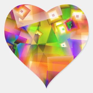 Sticker Cœur Graphique-art coloré