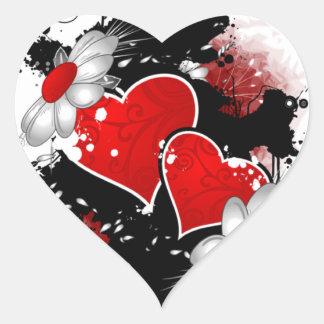 Sticker Cœur Graphisme pour la Saint-Valentin -