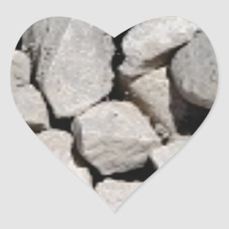 Sticker Cœur gravier gris