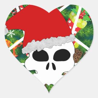 Sticker Cœur grêle père Noël