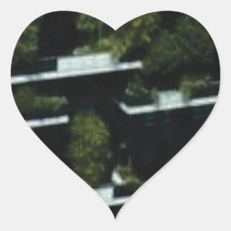 Sticker Cœur grenier de jungle