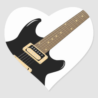 Sticker Cœur Guitare électrique