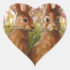 Sticker Cœur Happy Bunnies design by Schukina A072