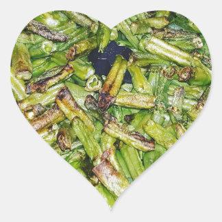 Sticker Cœur Haricots verts…