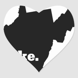 Sticker Cœur Hausse la Virginie Occidentale
