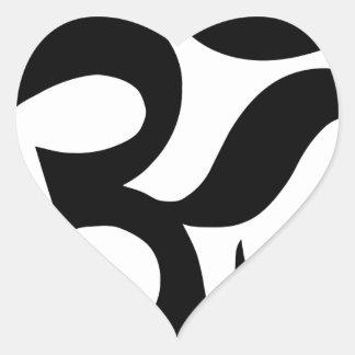 Sticker Cœur hindu3