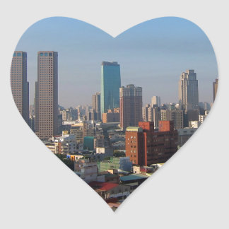 Sticker Cœur Horizon de Taïwan Taichung