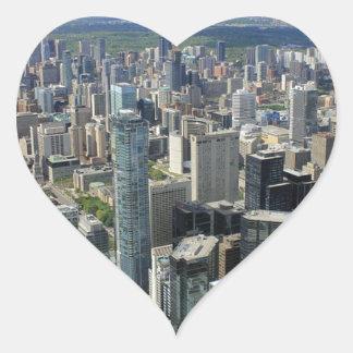 Sticker Cœur Horizon de ville de Toronto