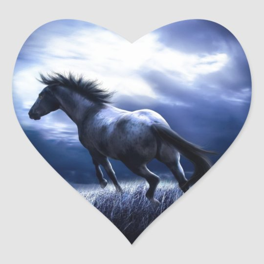 Sticker Cœur Horse