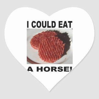 Sticker Cœur I could eat a horse - beef burgers