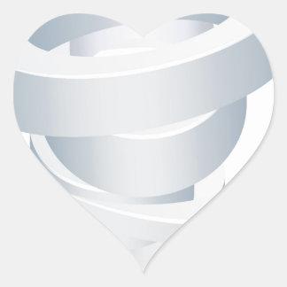 Sticker Cœur Icône de la tornade 3d d'ouragan de cyclone de