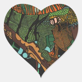 Sticker Cœur Iguane