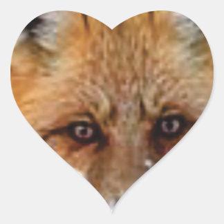 Sticker Cœur image de fantaisie de renard