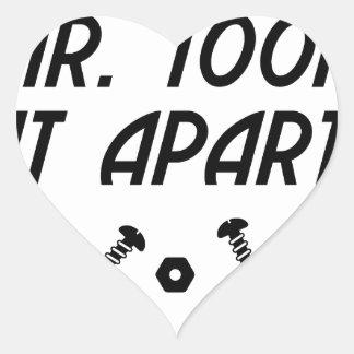 Sticker Cœur It Apart de M. Took