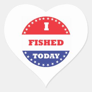 Sticker Cœur J'ai pêché aujourd'hui