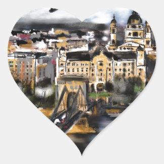 Sticker Cœur J'aime Budapest