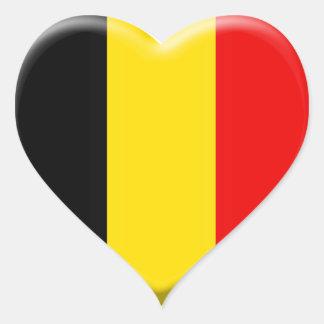 Sticker Cœur j'aime la Belgique