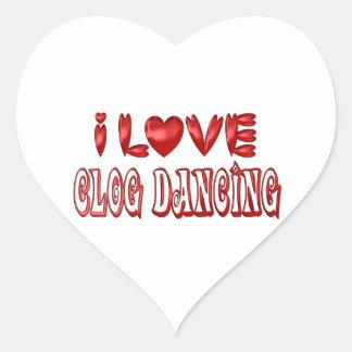 Sticker Cœur J'aime la danse d'entrave