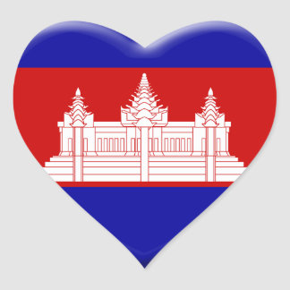 Sticker Cœur j'aime le Cambodge