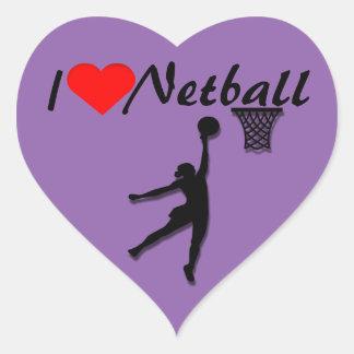 Sticker Cœur J'aime l'image de net-ball