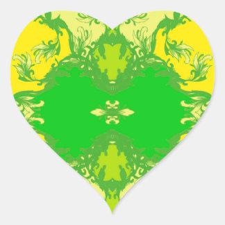 Sticker Cœur jaune
