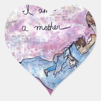 Sticker Cœur Je suis mère