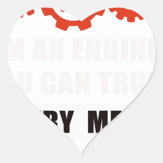 Sticker Cœur Je suis un ingénieur que vous pouvez faire