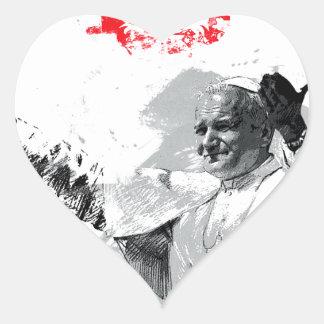 Sticker Cœur John Paul le deuxième