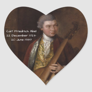 Sticker Cœur Karl Friedrich Abel