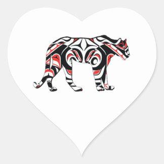 Sticker Cœur La chasseuse