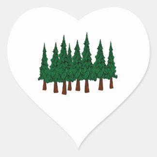 Sticker Cœur La forêt à feuillage persistant