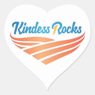 Sticker Cœur La gentillesse bascule l'autocollant de coeur