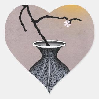 Sticker Cœur la lune élégante des fernandes et la fleur de 2
