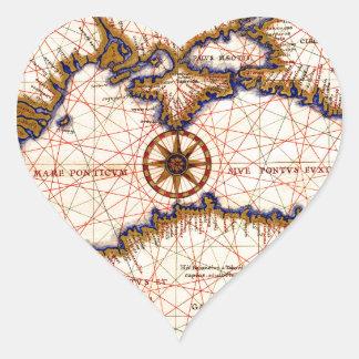 Sticker Cœur La Mer Noire 1559b