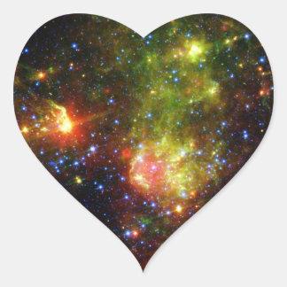 Sticker Cœur La mort poussiéreuse de la NASA massive d'étoile