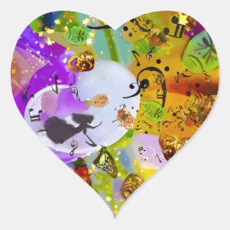 Sticker Cœur La musique peut exprimer tout et dire rien