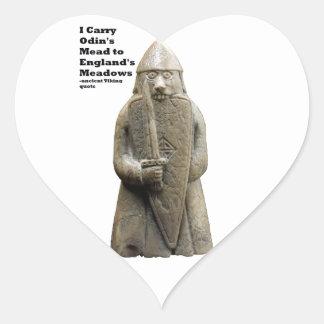 Sticker Cœur La prière d'Odin (Viking Berserker)