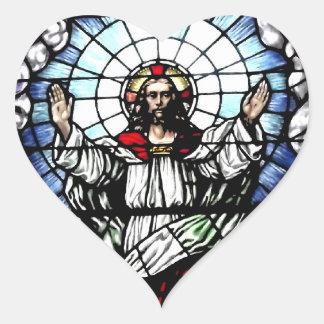 Sticker Cœur La résurrection de notre seigneur (verre souillé)