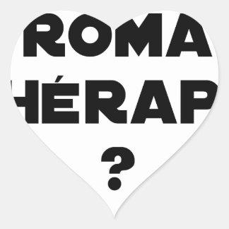 Sticker Cœur La Roma Thérapie - Jeux de Mots - Francois Ville