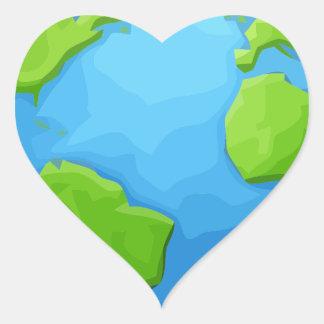 Sticker Cœur la terre